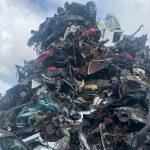 A pile of scrap cars