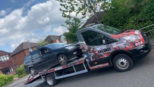 A scrap Ford car in Bolton
