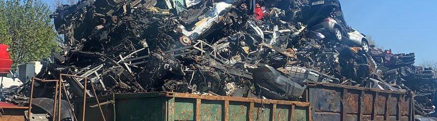 A car scrap yard in Bolton