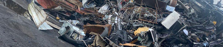 Pile of scrap metal in Bolton UK