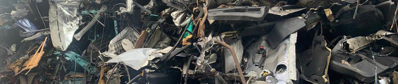 Pile of scrap cars in Bolton